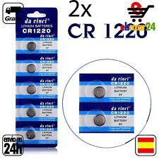 2x CR 1220 PILAS pila de botón baterías 3 V boton bateria CR1220 DL1220 BR1220 E