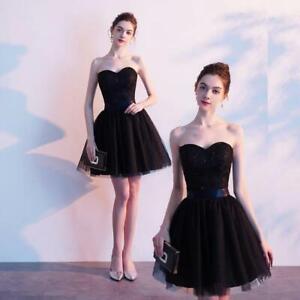 UK Stock Short Party Dress Knee Length Cocktail Dress Size 8 10 12 14 16 18