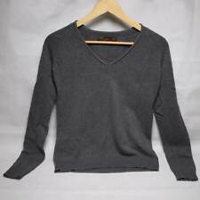 Zara Grey Long Sleeve V Neck Top Womens Large