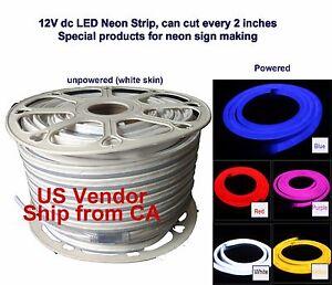 "DC12V 2835 Waterproof LED Neon Rope 120 LED/m + accessories, minimum cut 2"""