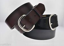 """BIG WESTERN FULL GRAIN Leather Belt 700 Width 1 5/8"""""""