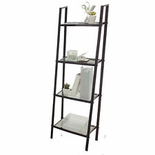 New Shelving Ladder Unit Display Book 4 Shelf Decor Furniture 1300mm h x 460mm w