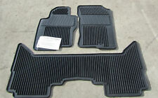 NEW OEM 2009-2012 NISSAN PATHFINDER 3 PIECE ALL WEATHER RUBBER MATS