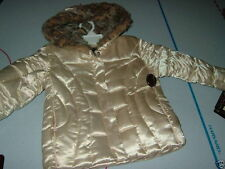 PREOWNED BIG CHILL CHAMPAGNE GIRLS PUFFER COAT JACKET S (4) TWINS