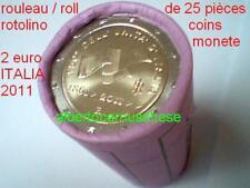 25 x 2 euro 50 ITALIE 2011 150 années ITALIA ITALIEN Italy Италия Włochy rouleau