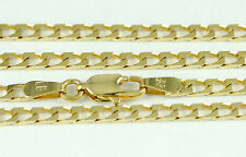 """16-24"""" 2.15mm 10k Squared Link Chain Necklace, (NEW solid Italian necklace) 2418"""