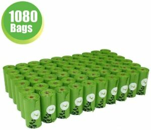 PET N PET Dog Poop Bags Pick up Pet Waste Bags 1080 Counts Green 9*13 large size