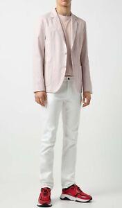 Hugo Boss Men's Areltu Light Pink Slim Fit Stretch Cotton Sport Coat Blazer 38R