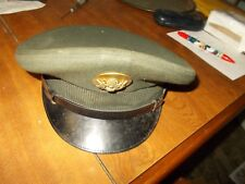 VINTAGE WW2 OFFICERS CRUSH CAP