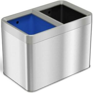 5.3 Gal. Dual Compartment Slim Open Top Waste Bin for Trash Can by iTouchless