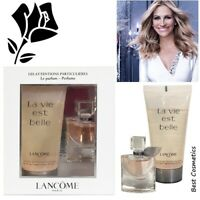 LANCOME La Vie Est Belle Mini Women Gift Set Eau de Parfum EDP 4ml & Shower Gel