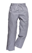 Portwest Mens 100% Cotton Chefs Bromley Trouser Catering Chef Bakers Trouser