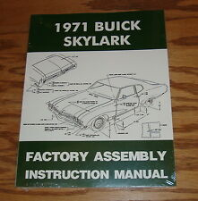1971 Buick Skylark Factory Assembly Instruction Manual 71