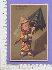 8366 R. H. Macy Co trade card NYC department store umbrella parasol Chinese boy
