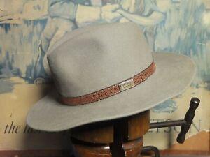 Australian Kangaroo Wear Fur Felt Fedora Hat Eu 57 UK 7  US 7 1/8