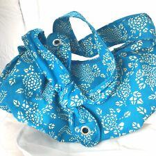 Hobo Boho Sling Bag Turquoise Blue Inside Pockets Adjustable Strap Crossbody