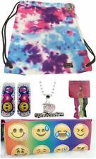 Gymnastic Girls Back School Top Trenz Tween Gift Set 5 Sling Bag Necklace Socks