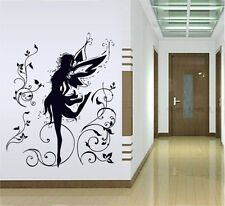 Dancing Flower Fairy Removable Wall Stickers Room Mural Decals Home Decor Art
