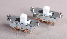 Two 2 Switchcraft Slide Switches For Fender Mustang Jag Stang Guitar White Color