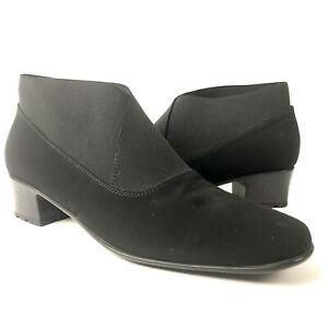 Sesto Meucci Yossi 7 N black waterproof booties microfiber stretch ankle