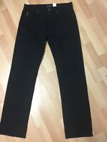 NWOT MEN ARMANI JEANS  STRETCH CHINO JEANS JET BLACK W32 L32 H8 RRP£149