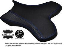Agarre De Carbono R Azul Puntada Personalizado Se Ajusta Yamaha 1000 YZF R1 04-06 Cubierta de asiento delantero