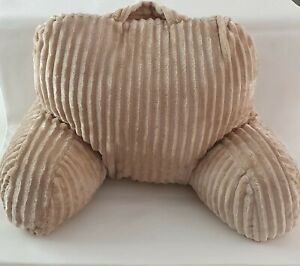 Cozee Home Wide Rib Texture Plush Back Rest Cushion Taupe Colour