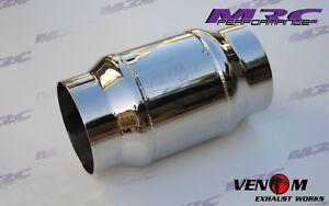 """MRC VENOM high flow stainless 4"""" 100mm 100 cell Catalytic Cat converter"""