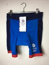 Women's Blue Padded Cycling Shorts Olympics Team GB UK 12-14 New With Tags (BA)