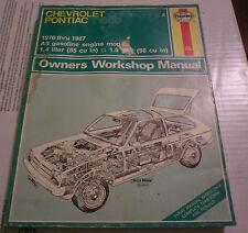 (Drawer 19) Haynes 449 Chevrolet Chevette Pontiac T1000 Owners Workshop Manual