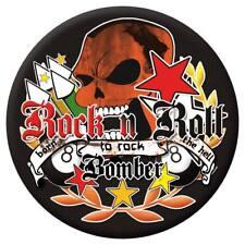 Rock n roll bombarderos sticker bombed Bomb rythm Skull bug Dub tuning pegatinas