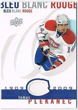 2008-09 Upper Deck Montreal Canadiens Centennial Jersey #LBBR-PL Tomas Plekanec