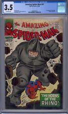 AMAZING SPIDER-MAN #41 CGC 3.5 1ST RHINO