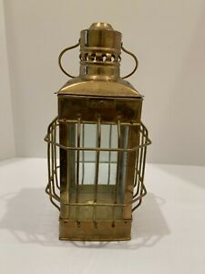 ANTIQUE CANDLE BRASS LANTERN