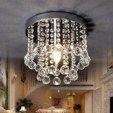 Crystal Chandelier Modern Ceiling Flush Mount Pendant Lamp Decor Light Fixture
