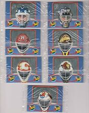 1996-97 Kellogg's Tony's Team Tiger Goalie Mask Set In Cello (7) Canada Only
