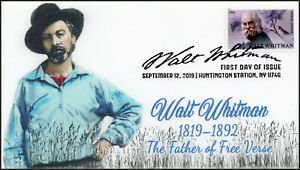 19-265, 2019, Walt Whitman, Pictorial Postmark, First Day Cover, Writer