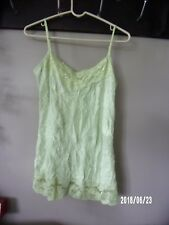 Maurices womens ladies large tank crinkle cami, lime green NEW TAG