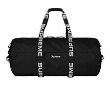 SUPREME SS18 LARGE DUFFLE BAG BLACK BRAND NEW WITH TAG
