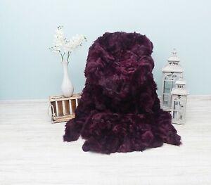 Purple Natural Toscana Sheepskin Carpet,Real GIANT TOSCANA Sheepskin Bedspread