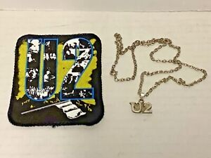U2 Vintage 1980's Necklace and Patch