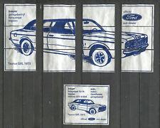 Nice Complete Set of 12 Vintage Matchbox Labels Ford Taunus GXL Puzzle