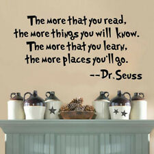 The More That You Read Removable Vinyl Wall Decal Sticker Room Mural Home Decor