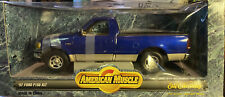 1997 FORD F-150 XLT ERTL COLLECTIBLES  BLUE 1/18 AMERICAN MUSCLE SERIES