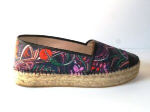 Emilio Pucci Canvas and Leather Espadrilles **BNIB** Size IT37-UK4