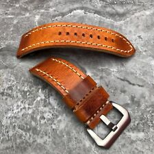 FOR Panerai Luminor Radiomir PAM watches 22m 24mm 26mm Brown Leather watch strap