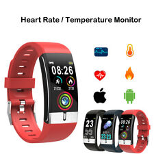 Smart Watch Blood Pressure Heart Rate Temperature ECG Monitor Bracelet Wristband