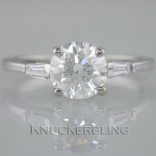 Natural Round White Gold SI2 Fine Diamond Rings
