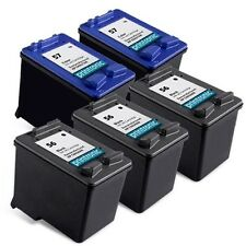 5pk Printronic For Hp 56 57 C6656AN C6657AN Black Color Ink Cartridge