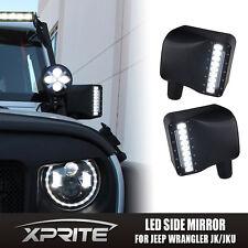 2X Off Road Side Mirror Signal LED Turn Lights For 2007-2017 Jeep Wrangler JK